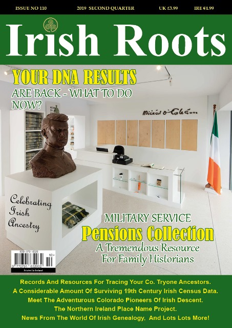 Irish Roots: Save 30% on the new Summer 2019 digital issue of Irish Roots! Regularly $4.46 USD, now just $3.12 USD! Irish Roots magazine is the 'go to' genealogy and family history publication for tracing your Irish ancestors.