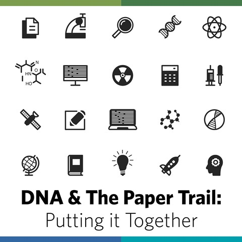 "NEW! Save 10% on DNA and the Paper Trail: Putting It All Together presented by Shannon Christmas, Tuesday, April 25th 6:00pm Central. ""DNA test results can reveal a lot about your family history when combined with traditional research methods. In this webinar, Shannon Christmas will demonstrate how to use DNA testing in conjunction with research to determine how you can expand your family tree and break through brick walls. You'll see specific instances in which DNA testing provides evidence that can be used to corroborate or solve genealogy problems. Whether you're new to genealogy through DNA testing or you are an experienced genealogist looking for new ways to incorporate genetic genealogy into your research, you'll discover ways to use both methods together to problem-solve."""