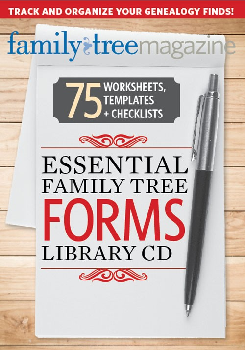 Essential Family Tree Forms Collection, Volume 1 CD: Organize your research with these downloadable genealogy forms, including family tree templates online record forms to preserve your ancestry.