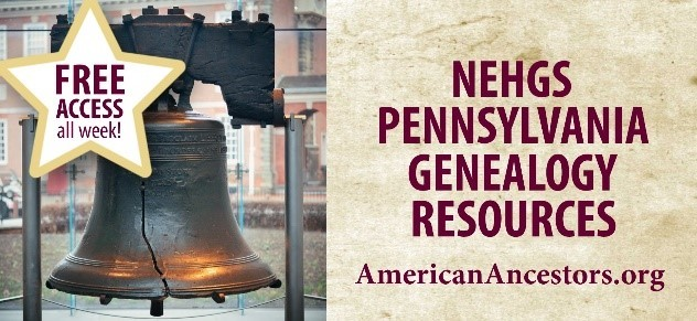 FREE ACCESS All Pennsylvania Records at American Ancestors