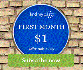 NEW! Get a 1-month World Subscription at Findmypast for only £1/$1 - use promo code BIFAMILY at checkout (or use the links below) and get your first month of Findmypast for this amazing low price! Offer valid through July 2nd - via Findmypast