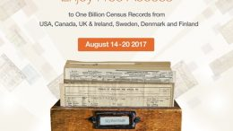 Get FREE ACCESS to over 1 BILLION census records at MyHeritage during Records Week! Genealogy Bargains for Monday, August 14th, 2017