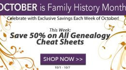 ERE to shop - via Family Tree Magazine These amazing cheat sheets cover every possible topic including RootsMagic, English Genealogy, Land Records and More! Over 90 different cheat sheets, normally $9.99 each, now just $5.00 but some are even priced at less! PLUS use promo code FAMTREE20 at checkout and you can save an additional 20%!!