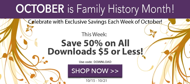 save 50 on downloads less than 5 at family tree magazine this week