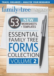 Essential Family Tree Forms Collection, Volume 2 Download, regularly $19.99, now just $13.99