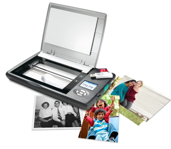 Flip-Pal mobile scanner: the fast and easy solution to preserving and sharing your old photos and documents. I LOVE my Flip-Pal and most nights I am sitting on the couch watching television and scanning photos with this amazing device! This is the portable scanner preferred by genealogists and family historians around the world. Just $149.99 plus FREE SHIPPING for Amazon Prime members.