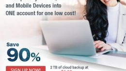 90% off iDrive automatic online backup - just $6.95 USD for 2TB of storage!