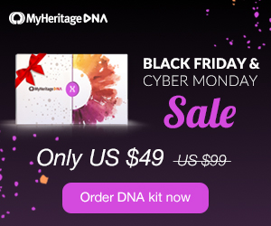 MyHeritage DNA Just $49! PLUS special savings on shipping! Just when we thought that prices couldn't go any lower, MyHeritageDNA just announced its Black Friday / Cyber Monday Sale! MyHeritage DNA test is an autosomal test just like AncestryDNA and Family Tree DNA's Family Finder test.