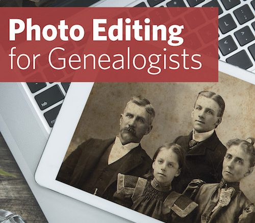 Save $20 on Photo Editing for Genealogists Live Course at Family Tree Magazine.