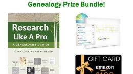 Enter The Research Like a Pro Genealogy Giveaway this week and you could win a FREE copy of Research Like a Pro: A Genealogist's Guide, PLUS an Ancestry DNA test kit PLUS a $100 Amazon gift card!