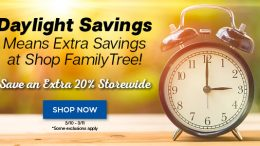 """Save an Extra 20% Storewide at Family Tree Magazine - """"Daylight Savings means extra savings at Family Tree! Whether you are looking for the hottest genealogy books, downloads, cheat sheets, OnDemand webinars by the experts, Family Tree Magazine issues, or something else, we have you covered! Best of all, for this weekend only, save an extra 20% storewide* with code LIGHT15. Don't wait, get extra savings for two days only!"""""""