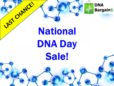 This year's DNA Day sales started on April 17th and have lasted through today, April 30th! Don't miss out on these deals from Ancestry DNA Canada, Family ChartMasters, Family Tree Magazine and MORE!