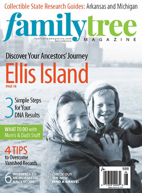Family Tree Magazine - America's #1 genealogy magazine - has a new look . . . and to celebrate they are making their May/June 2018 issue available online for FREE! Get the details at Genealogy Bargains!