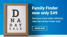 "According to Family Tree DNA, ""getting more family members to test can provide greater insight into your own personal ancestry."" Family Finder DNA test is just $49 - the lowest price for a DNA test right now - stock up for this summer's family reunions!"