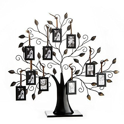 Save 47% on Klikel Family Tree Display at Amazon! - If you are looking for a way to use your genealogy research and digitized family photos here is a great idea . . . a metallic family tree display from Klikel. While there are many other companies making similar products, the Klikel line are the BEST in terms of construction, durability, and design. My recommendation is to get the Klikel Family Tree Frame Display with 10 Hanging Picture Photo Frames priced at just $39.99 USD!