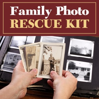 "Save 71% on Family Photo Rescue Kit from Family Tree Magazine - ""A Picture Can be Worth a Thousand Words - Get 6 Photo Resources for 1 Low Price!"