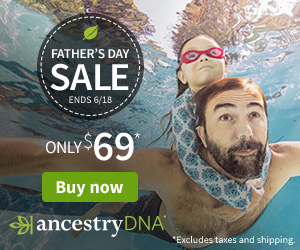 Give Dad AncestryDNA for Father's Day. He'll discover his ethnic roots—and the origins of his otherworldly abilities. Just $69 USD - get the details at Genealogy Bargains!
