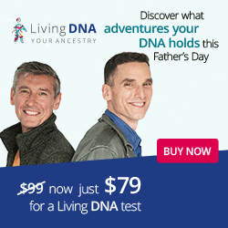 US Residents: Living DNA Test Regularly $159 USD, sale priced at $99 USD, special Father's Day Sale price of just $79 USD! Sale valid through June 18th.