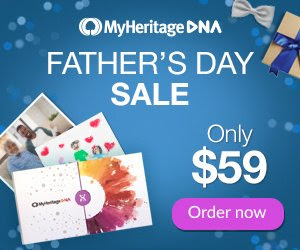 Get MyHeritage DNA for just $59 USD! The MyHeritage DNA Father's Day Sale has started and you can get the MyHeritage DNA test kit - an autosomal DNA test kit similar to 23andMe and AncestryDNA - for just $59 USD!