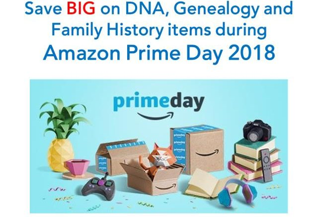 Here are the latest and best Amazon Prime Day 2018 deals for DNA, genealogy and family history-related items as tracked by Genealogy Bargains!