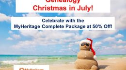 Day 2 of the 12 Days of Genealogy Christmas in July has an AMAZING 50% off deal on the MyHeritage Complete Plan - get the details at Genealogy Bargains!