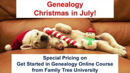 Day 3 of the 12 Days of Genealogy Christmas in July has a special offer on an online course from Family Tree Magazine - get the details at Genealogy Bargains!