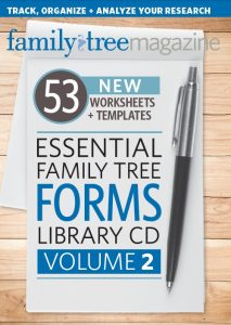 Essential Family Tree Forms Collection, Volume 2 CD: Organize your research with these downloadable genealogy forms, including family tree templates and online record forms to preserve your ancestry.