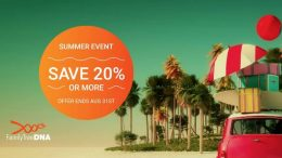 Family Tree DNA's annual Summer Sale is underway - save 20% or more on Family Finder DNA test kit, Y-DNA, mtDna, and test bundles! Get the details at Genealogy Bargains!