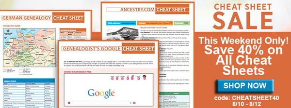 save huge on genealogy cheat sheets at family tree magazine