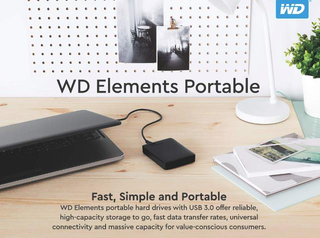 "Western Digital 2TB Portable External Hard Drive just $59.99 via Amazon! ""WD elements portable hard drives with USB 3.0 offer reliable, high-capacity storage to go, fast data transfer rates and universal connectivity with USB 2.0 and USB 3.0 devices. The small, lightweight enclosure features massive capacity and WD quality and reliability. It includes a free trial of WD SmartWare Pro for local and cloud backup."""