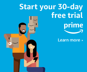 Try Amazon Prime for 30 days and reap all the benefits of an Amazon Prime Membership!