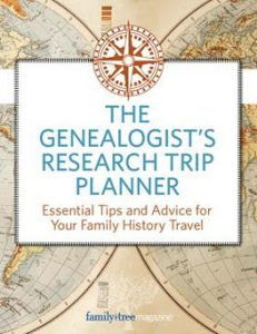 Genealogist's Research Trip Planner eBook (EBOOK): Sooner or later every genealogist's journey involves traveling beyond your home computer and the local library-whether it's to access records available only in your ancestors' hometown or simply to experience the place or time your forebears lived in. This guide compiles Family Tree Magazine's best advice for on-the-road research, including the most important element of successful genealogy travel: planning.