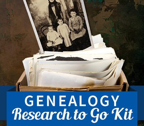 "Save 75% on Genealogy Research to Go Kit from Family Tree Magazine! ""With the incredible amount of records now available online, it's tempting to do all of your genealogy from the couch or home office. But there are still many family history destinations that require an in-person visit, and for such occasions a proper Genealogy Research To Go Kit is an absolute necessity."