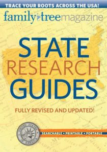 State Research Guides CD, 2nd Edition (CD): This fully revised and updated second edition includes new resources, maps and a bonus guide to nationwide records. It's all in an enhanced PDF format that lets you quickly and easily navigate from state to state, click directly to recommended websites, instantly search the full text of all 52 guides, and print pages for reference. Take this indispensable CD with you wherever you do research!