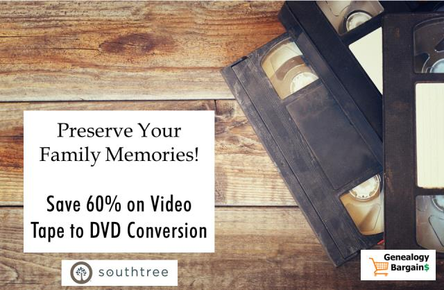 Save Over 60% on Video Tape to DVD Conversion at Southtree