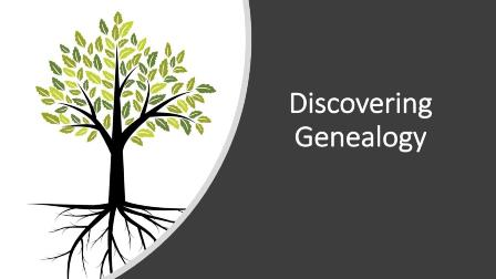 Discovering Genealogy By taking this course today, you'll get the basics you need to start tracing your family tree and learn key details about your ancestors. There is no start or end date. Begin immediately! Whether you know a little about your family background, or nothing at all, we'll teach you how to build your family tree and gather information by tapping into home and family sources, interviewing relatives, and exploring online databases. Finally, we'll show you how to organize information with charts, forms, and research logs to keep track of your search results.