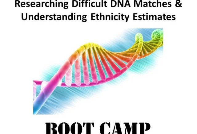 Save 30% on the digital download version of Researching Difficult DNA Matches & Understanding Ethnicity Estimates DNA Boot Camp with DNA expert Mary Eberle