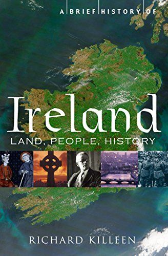 "A Brief History of Ireland - ""Ireland has been home to successive groups of settlers - Celts, Vikings, Normans, Anglo-Scots, Huguenots. It has imported huge ideas, none bigger than Christianity which it then re-exported to Europe after the fall of the Roman Empire. In the Tudor era it became the first colony of the developing English Empire. Its fraught and sometimes brutal relationship with England has dominated its modern history. Killeen argues that religion was decisive in all this: Ireland remained substantially Catholic, setting it at odds with the larger island culturally, religiously and politically. But its own culture and identity have stayed strong, most obviously in literature with a magnificent tradition of writing from the Book of Kells to the modern masters: Joyce, Yeats, Beckett and Heaney."""