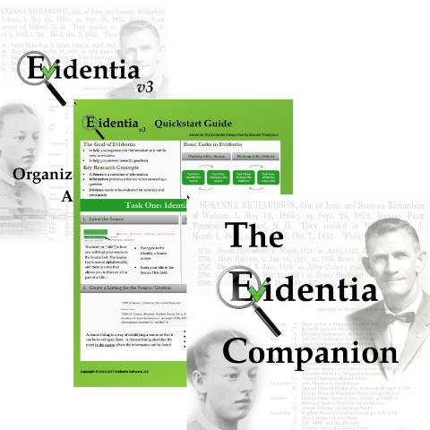 "Purchase Evidentia genealogy software and get The Evidentia Companion Book (a $14.99 USD value) for FREE! ""Family History month is upon us, and what better way to celebrate than a sale! Not only a sale though, but our biggest sale ever!!"