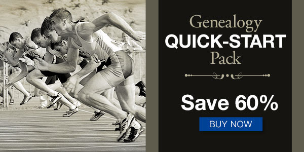 Save 60% on the Genealogy Quick-Start Pack from Family Tree Magazine - 9 Resources to Jump Into Genealogy for One Low Price!