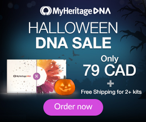 SPOOKY SAVINGS during MyHeritage DNA Sale - only $79 CAD