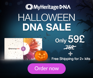 SPOOKY SAVINGS during MyHeritage DNA Sale - only £59 GBP