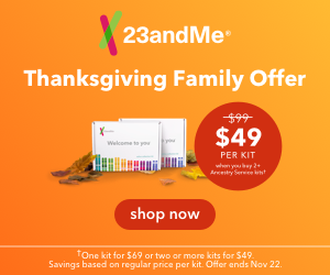 Save up to 50% on 23andMe DNA test kits - purchase 2 or more and pay just $49 USD each! Get a single test kit for just $69 USD plus FREE SHIPPING via Amazon