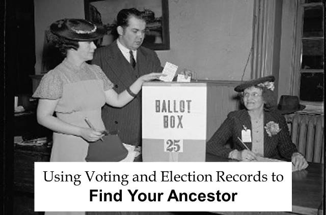 "FREE WEBINAR Using Voting and Election Records to Find Your Ancestor presented by Melissa Barker, Wednesday, November  7th, 2018, 1:00 pm Central - ""Our ancestors voted in local, state and federal government elections. Many of our local, state and national archives, libraries and genealogical societies have election and voting records that could help genealogists find their ancestors. These records could include the polling places where your ancestor voted and even your ancestor's signature."""