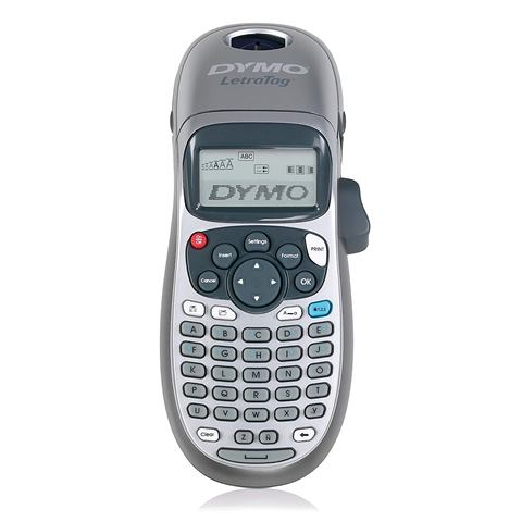 """Save 61% on DYMO Label Maker via Amazon!""""Hand-held and sleek, with battery powered portability, the DYMO LetraTag LT-100H Label Maker is the perfect way to keep your home organized. With a wide array of label colors and text features like multiple font styles, underlining, bolding and text sizing, you can print the right label for almost every situation. And the graphical display shows you precisely what you're going to print."""""""