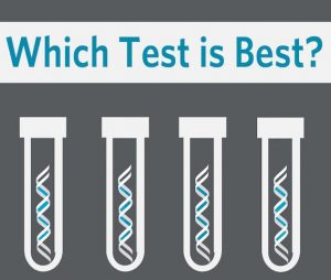 """Which Test is Best?: How do the """"big four""""; DNA testing services—23andMe, AncestryDNA, FamilyTreeDNA and MyHeritage—compare and which is right for your genealogy research? Explore what each offers, how much their testing costs, and what the results look like. Check out examples of actual results from each competing testing service before you commit with your DNA and your credit card."""