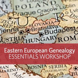Find Your Eastern European Ancestors: Eastern European genealogy research is a real challenge for family historians. Between the language barriers and the ever-shifting boundaries, finding records is like shooting at a moving target. Hit the bullseye and find your ancestors with this 3-day course, where you'll learn tips for pinpointing your ancestor's town of origin so you can find their records.