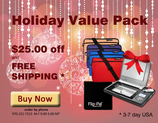 Flip-Pal: Save $25 and get FREE SHIPPING* with Flip-Pal Genealogy Value Pack!