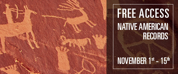 FREE ACCESS to Native American Records at Fold3*!  November is National Native American Heritage month. To celebrate, we're offering free access* to our Native American collection November 1-15