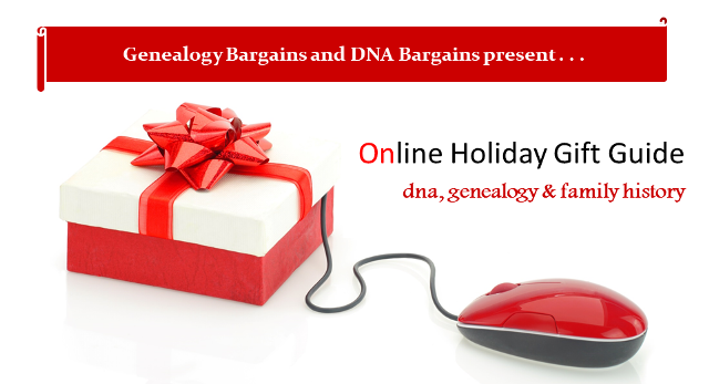 The BEST Black Friday and Cyber Monday deals on DNA test kits, genealogy and family history items are all in the Holiday Gift Guide at Genealogy Bargains